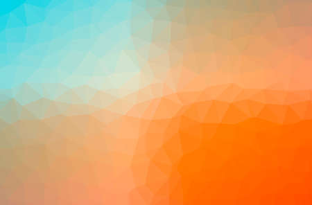 Illustration of abstract Blue, Orange horizontal low poly background. Beautiful polygon design pattern.