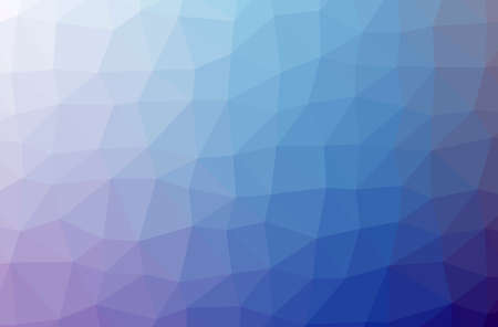 Illustration of abstract low poly blue horizontal background. 免版税图像