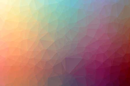 Illustration of abstract Orange horizontal low poly background. Beautiful polygon design pattern. 免版税图像