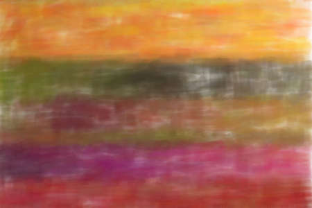 Pink, yellow and blue lines Watercolor abstract paint background.