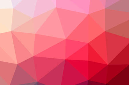 Illustration of abstract Red horizontal low poly background. Beautiful polygon design pattern. 免版税图像