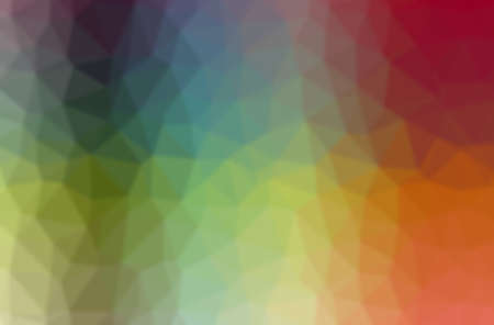 Abstract illustration of green, blue, yellow and red through tiny glass background.