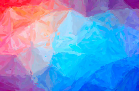 Abstract illustration of blue, red and purple Impressionist Impasto background