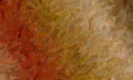 Brown impressionist impasto background, digitally created.