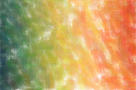 Blue, green and brown waves Watercolor abstract paint background.