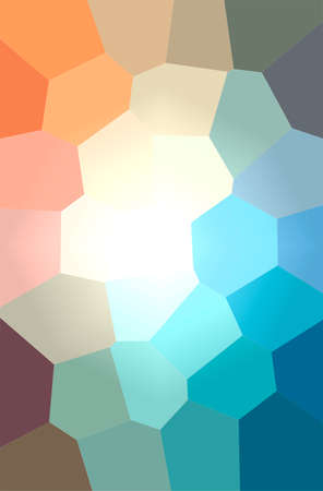 Abstract illustration of blue, green and red Giant Hexagon background 免版税图像