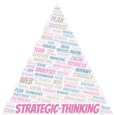 Strategic Thinking word cloud create with text only.