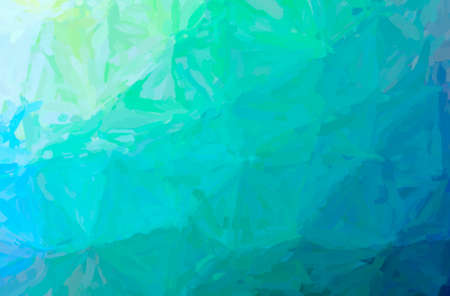Abstract illustration of blue, green Impressionist Impasto background Banque d'images
