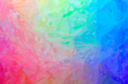 Abstract illustration of blue, green, yellow and red Impressionist Impasto background