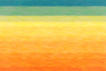 Orange, yellow and green lines wax crayon background, digitally created.