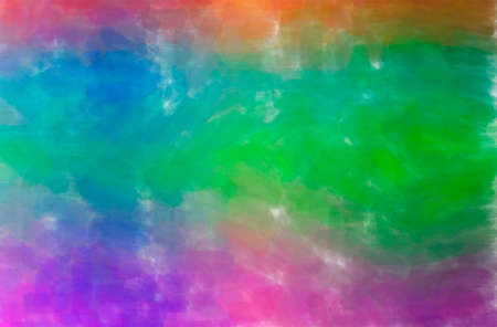 Abstract illustration of blue, green, purple Watercolor background