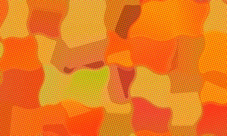 Brown, yellow and red paint with dots background, digitally created.