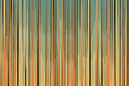 Orange, yellow and green lines posterization style background, digitally created.