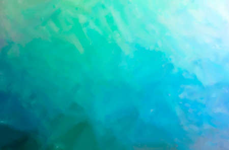 Abstract illustration of blue and green Dry Brush Oil Paint background