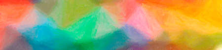 Abstract illustration of blue, green, orange Wax Crayon background 写真素材