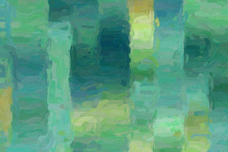 Green and yellow lines impressionist impasto background, digitally created. Banco de Imagens