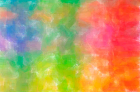 Abstract illustration of blue, green, orange, red, yellow Watercolor background