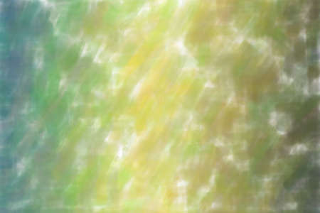 Yellow, green and light blue waves watercolor background, digitally created.