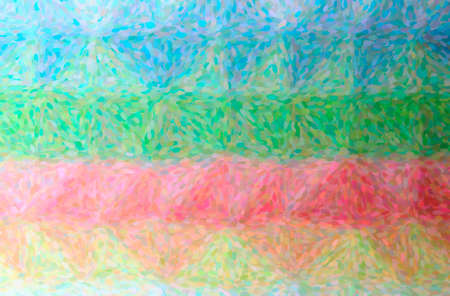Abstract illustration of blue, green, pink, red, yellow Impressionist Pointlilism background