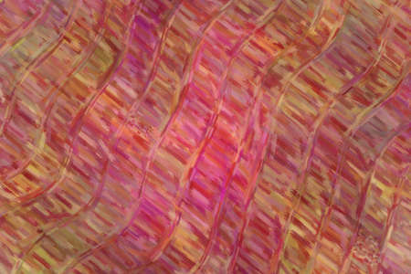 Red and pink waves large color variation oil paint background, digitally created.