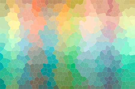 Abstract illustration of green, orange Small Hexagon background