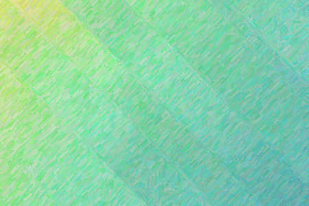 Green and yellow lines colorful impasto background, digitally created.