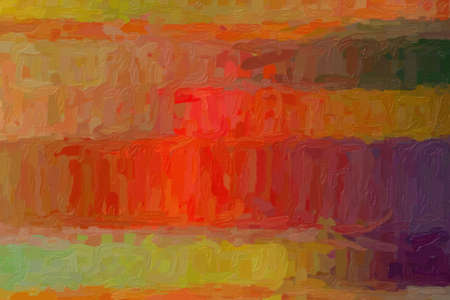Red and yellow lines Impressionist Impasto abstract paint background.