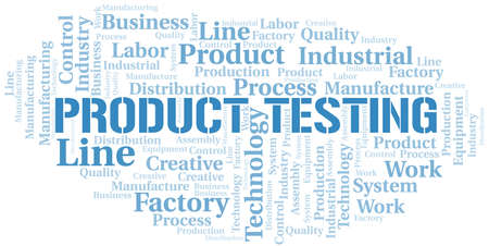Product Testing word cloud create with text only.