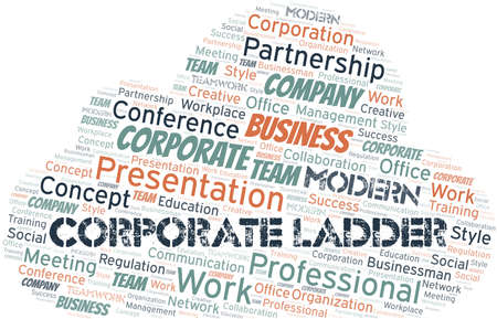 Corporate Ladder vector word cloud, made with text only.