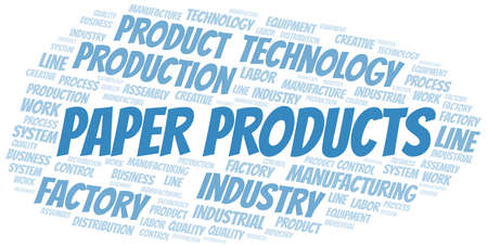 Paper Products word cloud create with text only.