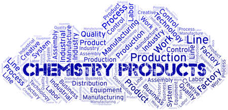 Chemistry Products word cloud create with text only.