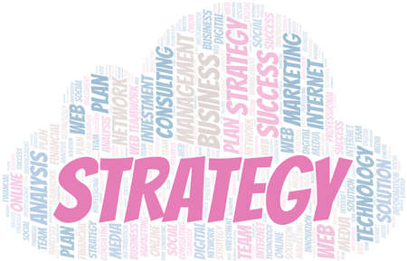 Strategy word cloud create with text only.