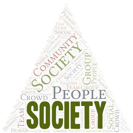 Society word cloud create with text only. Illustration