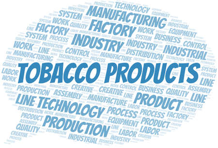 Tobacco Products word cloud create with text only.