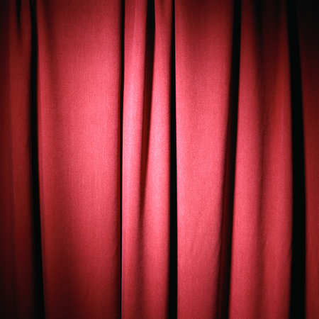 red shiny theatre curtain cloth material texture background