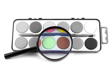 hogging: magic magnifying lens turns black and white in colour Stock Photo
