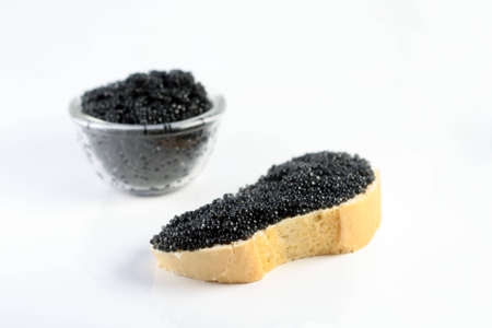 unachievable: the soft black caviar with bread and butter