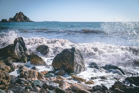 windy sandy beach