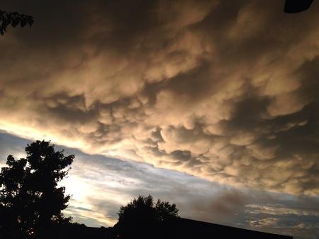 面白い雲の形成 写真素材