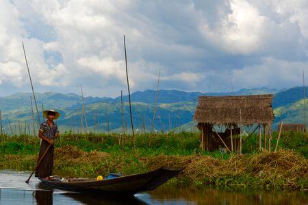 inle: Boat Inle Lake Myanmar