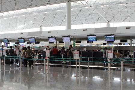 Hong Kong International Airport HKIA Cathay Pacific check in desks