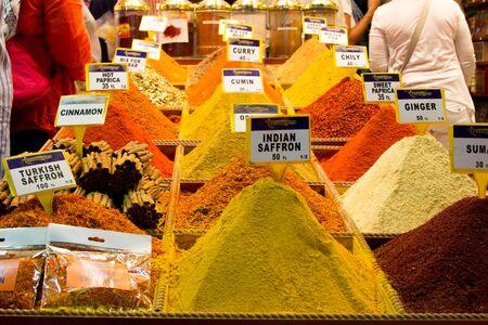 souk: Spice souk in Istanbul Turkey