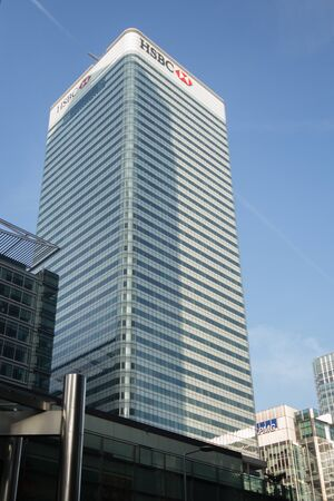 canary wharf: HSBC at Canary Wharf London UK