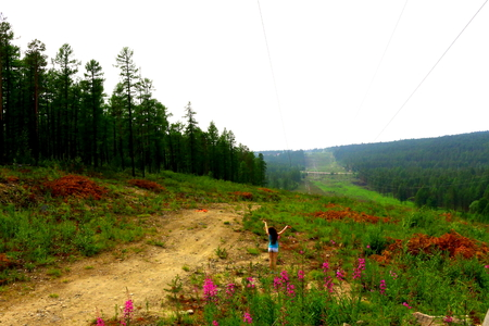 soothing: Running in the middle of Yakutsk nature, how is it soothing ...