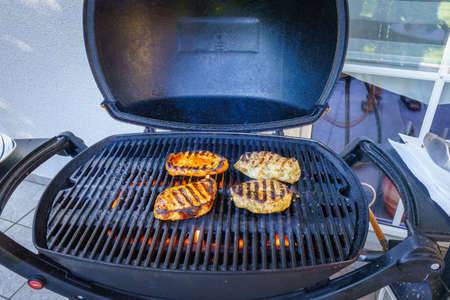 Grilling on the Gas Grill in lower Bavaria Germany