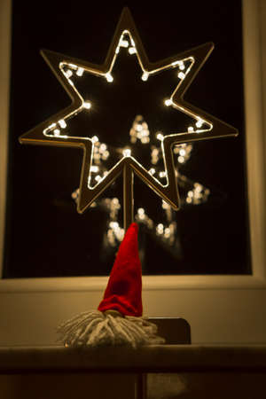 Christmas decoration. LED Lighting Tree and Star.