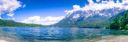 Lake Eibsee at the Zugspitz Summit in Bavaria Germany