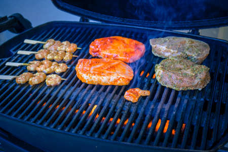 Grilling on the gas grill