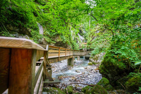 Seisenbergklamm on a hiking tour near Lofer in Austria