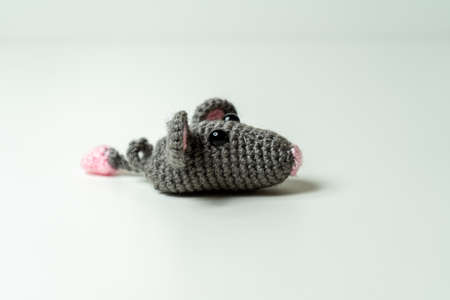 Amigurumi Mouse selfmade out of Wool
